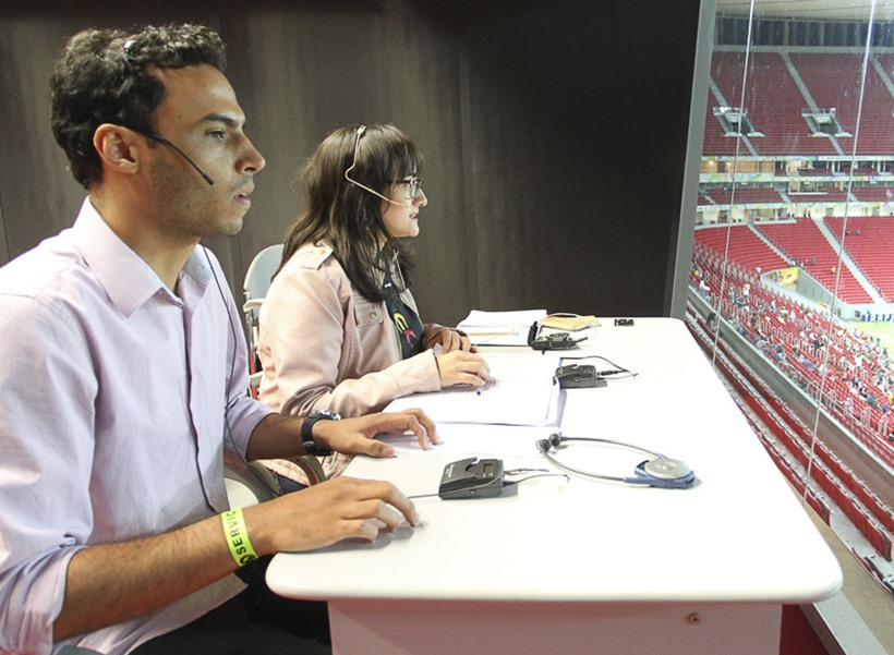 Copa terá narração especial em estádios para cegos e deficientes visuais